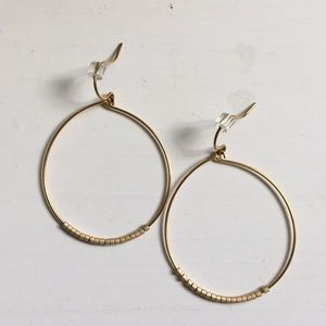 Jewelry - Gold hoop earrings